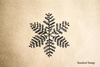 Snowflake 5 Rubber Stamp