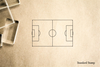 Soccer Field Diagram Rubber Stamp