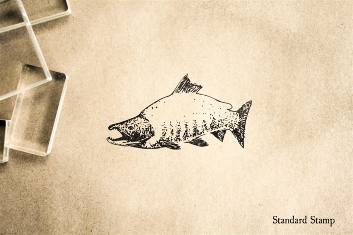 Sockeye Salmon Rubber Stamp