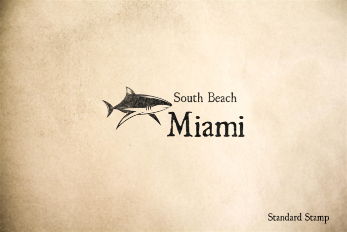 South Beach Miami Rubber Stamp