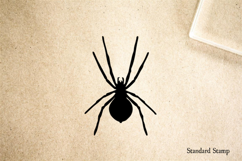 Spider Silhouette Rubber Stamp