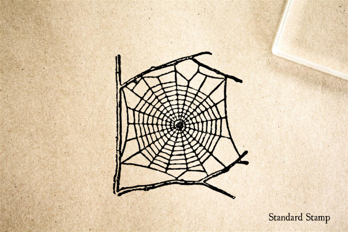 Spider Web Rubber Stamp