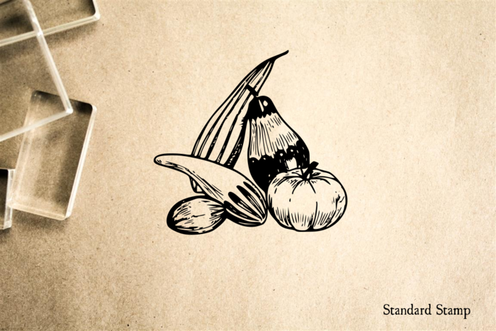 Squash Collection Rubber Stamp
