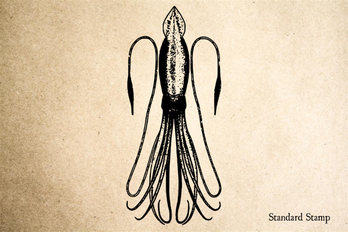 Giant Squid Rubber Stamp