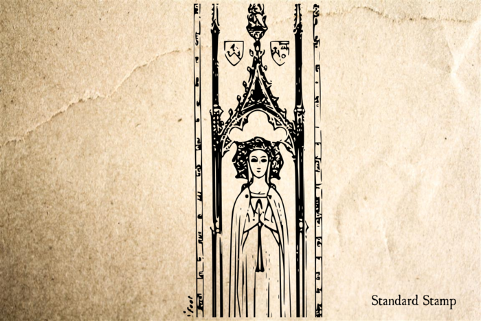 St Mary Rubber Stamp
