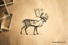 Stag - Deer Rubber Stamp