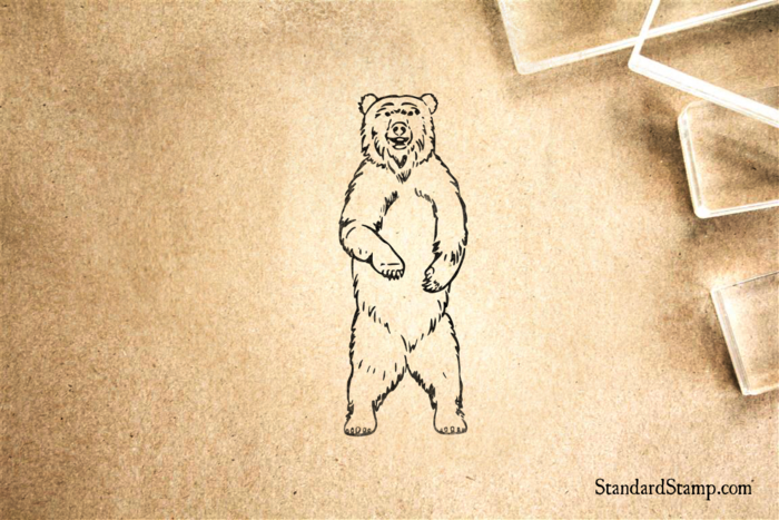 Standing Bear Rubber Stamp