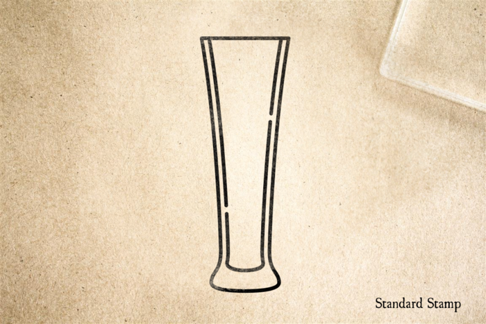 Stange Beer Glass Rubber Stamp