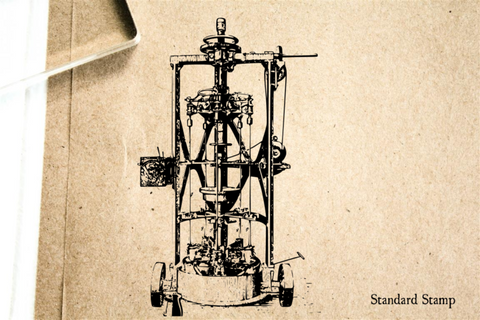 Steampunk Machine Rubber Stamp