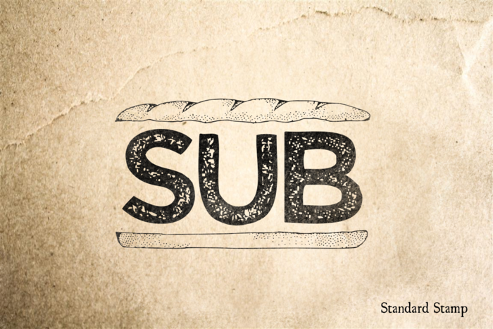 Sub Sandwich Rubber Stamp