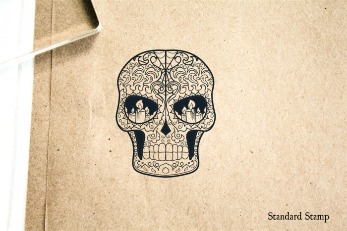 Sugar Skull Angry Rubber Stamp Enlarge Image