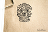 Sugar Skull Rubber Stamp