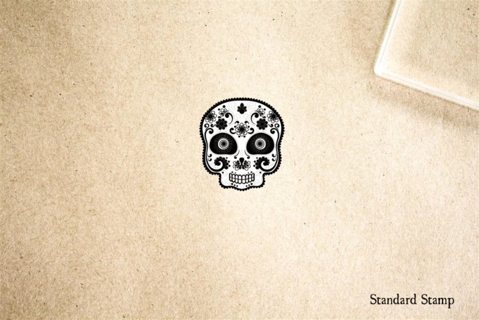 Sugar Skull Small Rubber Stamp