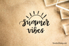Summer Vibes Rubber Stamp