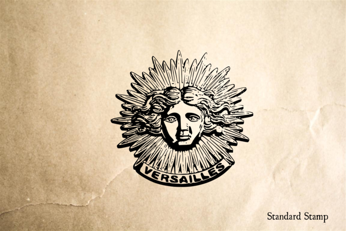 French Sun Rubber Stamp