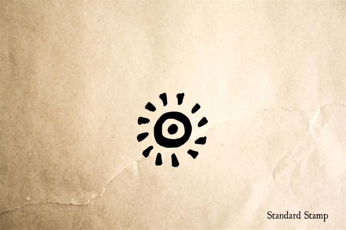 Tribal Sun Rubber Stamp