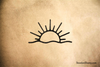 Sun and Wave Rubber Stamp