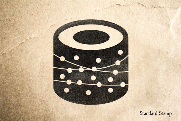 Sushi Roll 1 Rubber Stamp