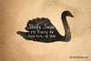 Swan Return Address Rubber Stamp