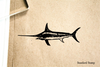 Swordfish Rubber Stamp
