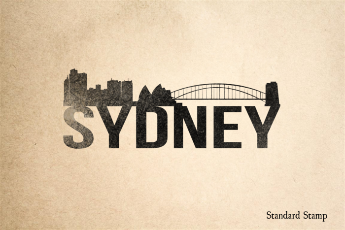 Sydney Skyline Rubber Stamp