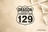 Tail of the Dragon Highway Sign Rubber Stamp