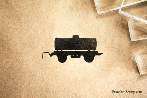 Tank Train Car Rubber Stamp