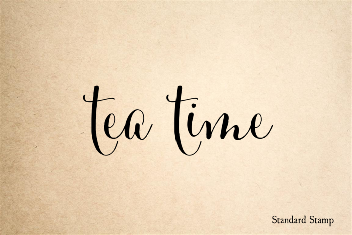 Tea Time Rubber Stamp