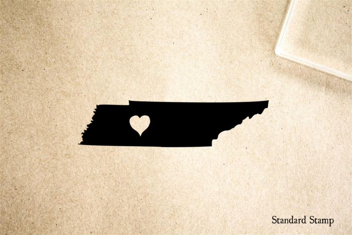 Tennessee with Heart Rubber Stamp