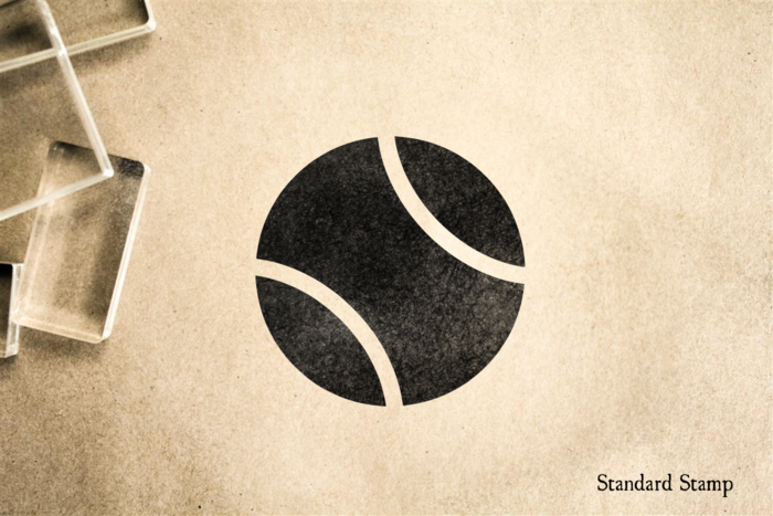 Tennis Ball Rubber Stamp