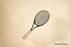 Tennis Racket Rubber Stamp