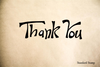 Thank You Hand Drawn Sign Rubber Stamp