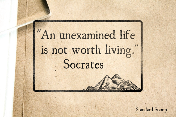 The Unexamined Life Rubber Stamp