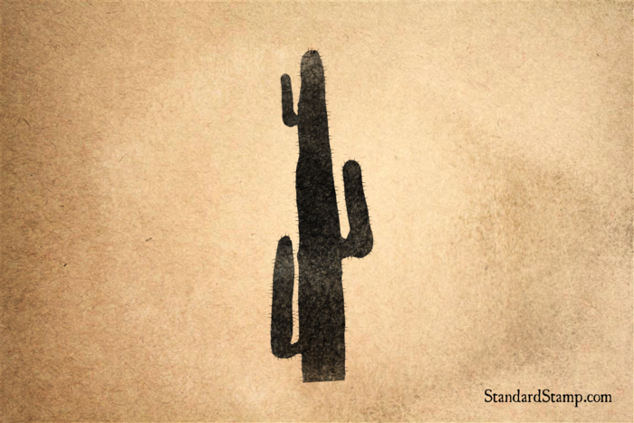 Thin Cactus Rubber Stamp Enlarge Image