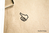 Thumbs Up Rubber Stamp