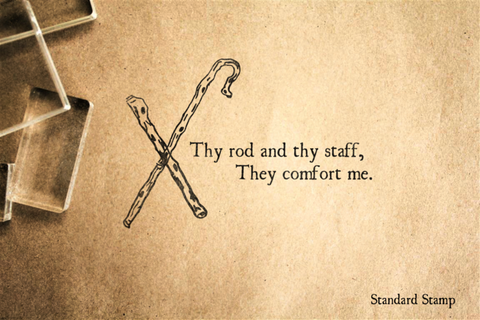 Thy Rod and Thy Staff Rubber Stamp