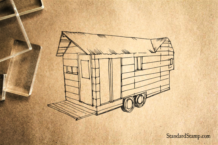 Tiny House Rubber Stamp