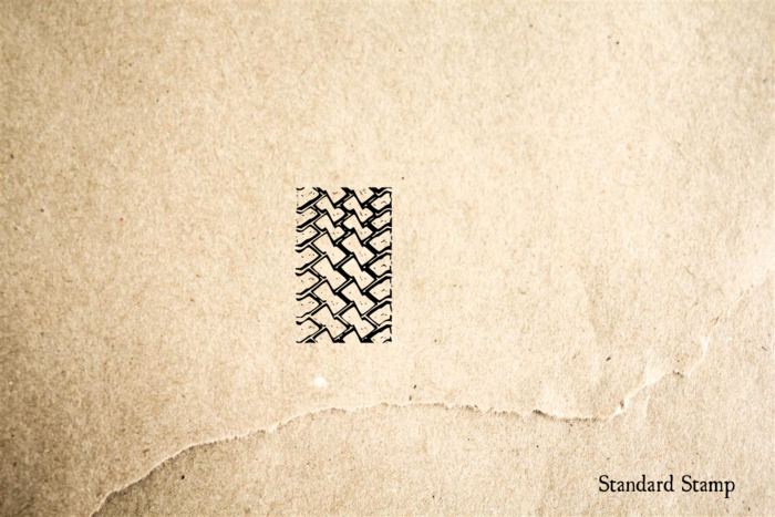 Tire Track 4 Rubber Stamp