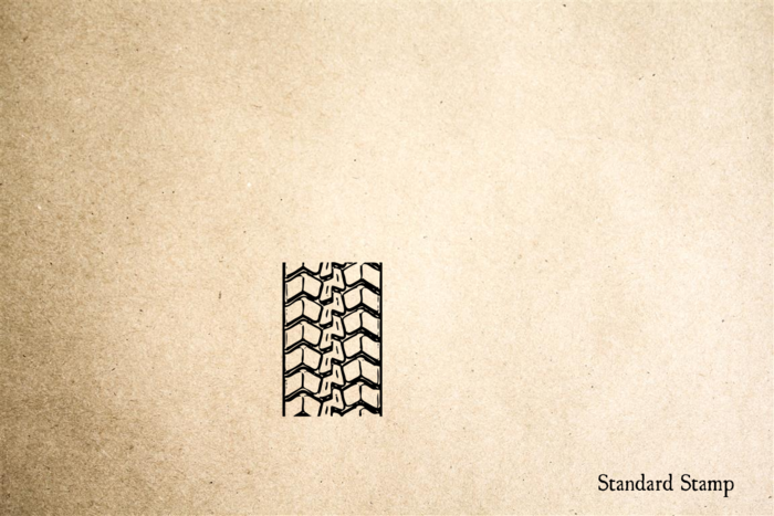 Tire Track 7 Rubber Stamp
