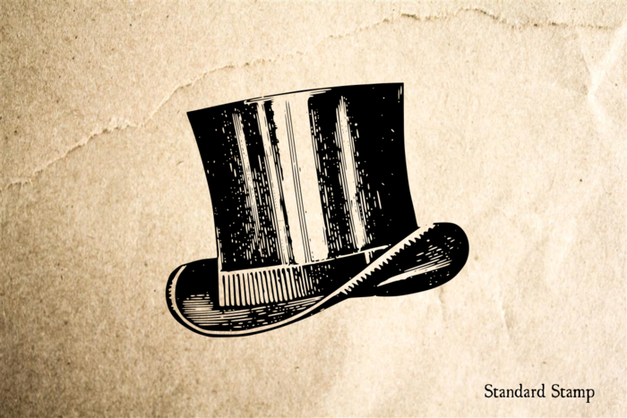 Top Hat Rubber Stamp