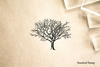 Delicate Tree  Rubber Stamp