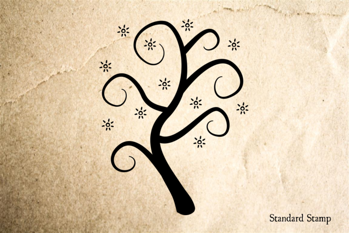 Tree Glimmer Rubber Stamp