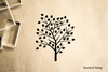 Tree Leafy Stylized Rubber Stamp