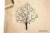 Tree Starry Rubber Stamp