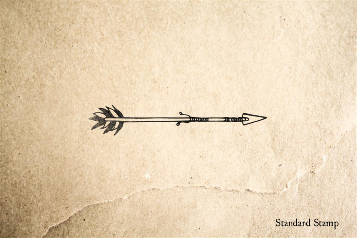Tribal Arrow Rubber Stamp