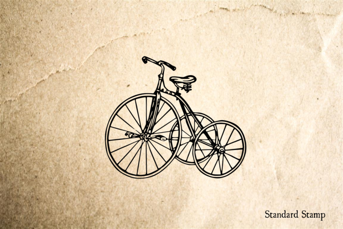 Tricycle Vintage Rubber Stamp