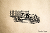 Truck Old Rubber Stamp