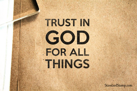Trust God Rubber Stamp