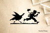 Turkey Chasing Boy Rubber Stamp