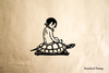 Turtle Child Rubber Stamp